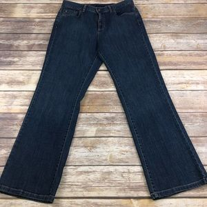 Tommy Hilfiger High Waisted Dark Wash Flare Jeans